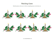 Candle Matching Game