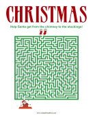 Christmas Maze Difficult