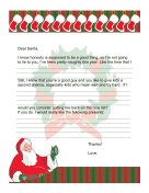 Letter to Santa Naughty