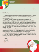 Letter from Santa for Christmas Birthday