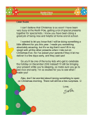 Santa Letter Early Present