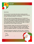 Santa Letter Encourage Questions