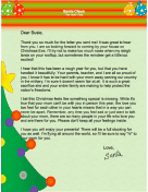 Letter from Santa when Mother is Away