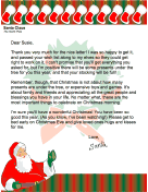 Letter from Santa when Money is Tight
