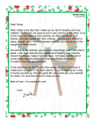 Santa Letter Naughty Or Nice
