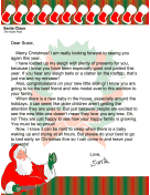 Santa Letter New Baby In The House