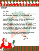 Letter from Santa to a New Home