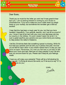 Letter from Santa when Parents are Away