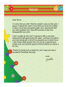 Santa Letter Replacing Unwanted Gift