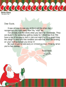 Letter from Santa to Child He Saw at the Mall