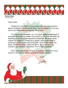 Santa Letter Stuck In Chimney