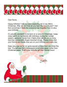 Santa Letter for a Christmas Birthday