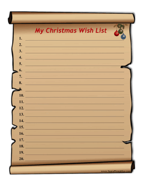 Printable Letters From Santa  Christmas Wish List Printable
