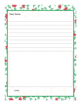 Letter to Santa Draw a Picture