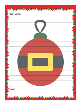 Letter to Santa with Lines