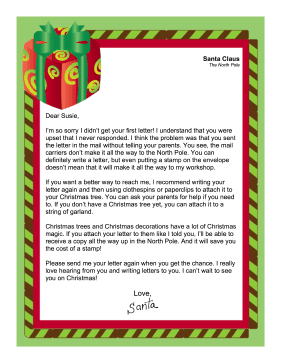 Santa Did Not Respond To Letter