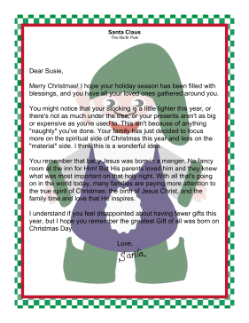 Santa letter jesus letter from santa claus focusing on spiritual side of christmas spiritdancerdesigns Images