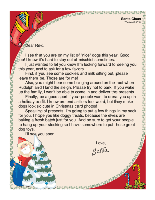 Letter from Santa to a Dog