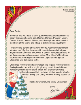 Santa Letter How Reindeer Fly