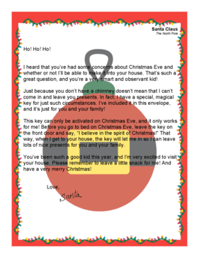 Santa Letter Magic Key