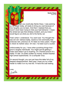 Adult Letter From Santa 108