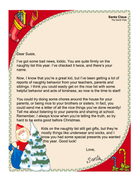 Santa letter naughty list santaletternaughtylistg spiritdancerdesigns Images