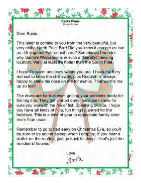 Letter from santa claus from the north pole spiritdancerdesigns Images