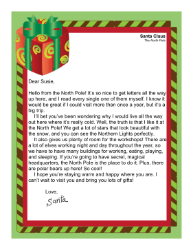Santa Letter North Pole