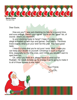 Letter from santa to older child who might not believe spiritdancerdesigns Images