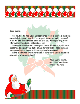 Secret santa letter office for Secret santa email template