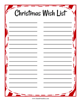 Wish List Two Columns