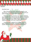 santa letter for babys first christmas