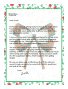 Santa Letter Chimney Safety