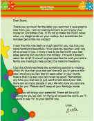 Christmas morning santa letters letter from santa when father is away spiritdancerdesigns Image collections