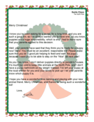 Santa Letter Giving A Puppy