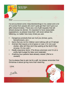Santa Letter List of Bad Gifts