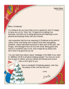 Santa Letter True Meaning Of Christmas