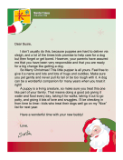 Santa Letter With New Puppy
